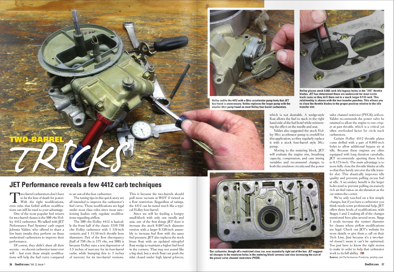 Circle Track Racing Carburetors: With One Dirt Magazine